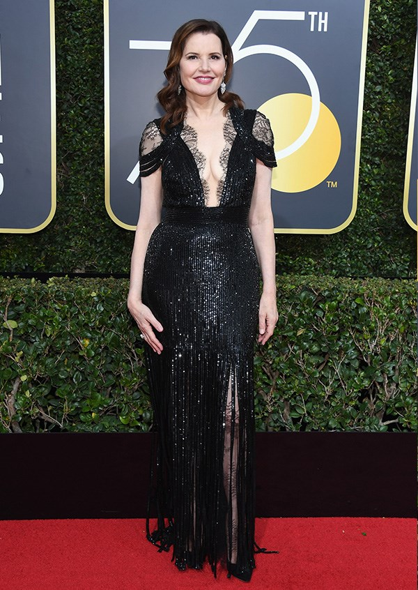 Geena Davis at the 2018 Golden Globes.