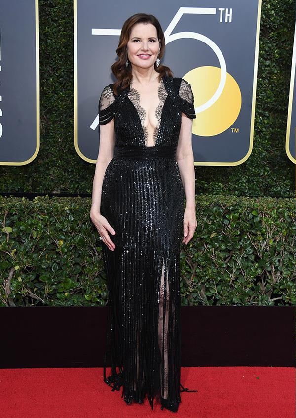 Geena Davis at the 2018 Golden Globes.
