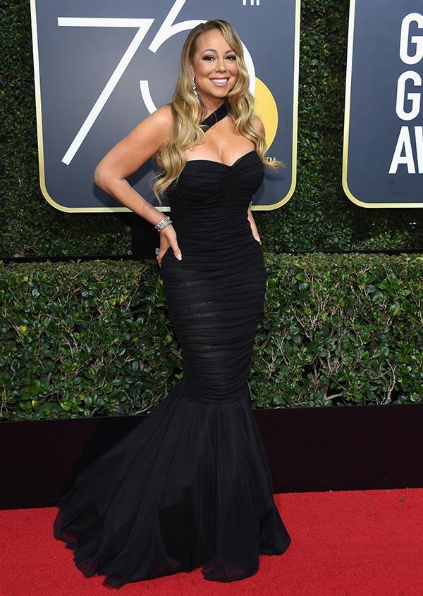 Mariah Carey at the 2018 Golden Globes.