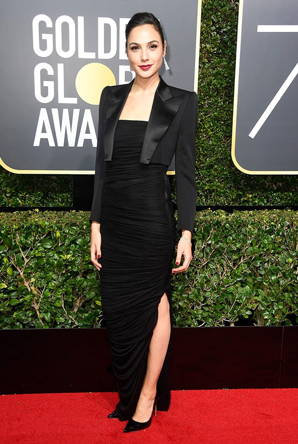 Gal Gadot in Tom Ford at the 2018 Golden Globes.