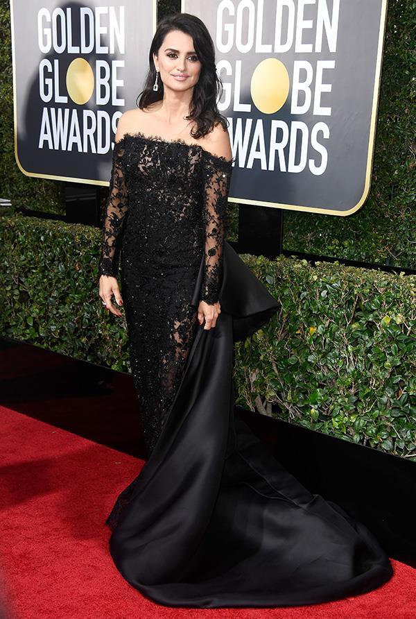 Penélope Cruz at the 2018 Golden Globes.
