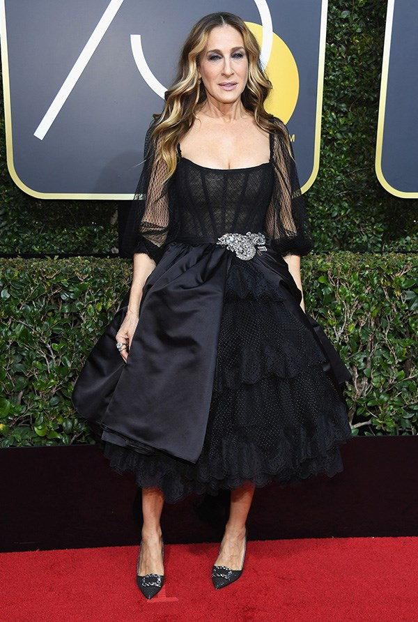 Sarah Jessica Parker at the 2018 Golden Globes.
