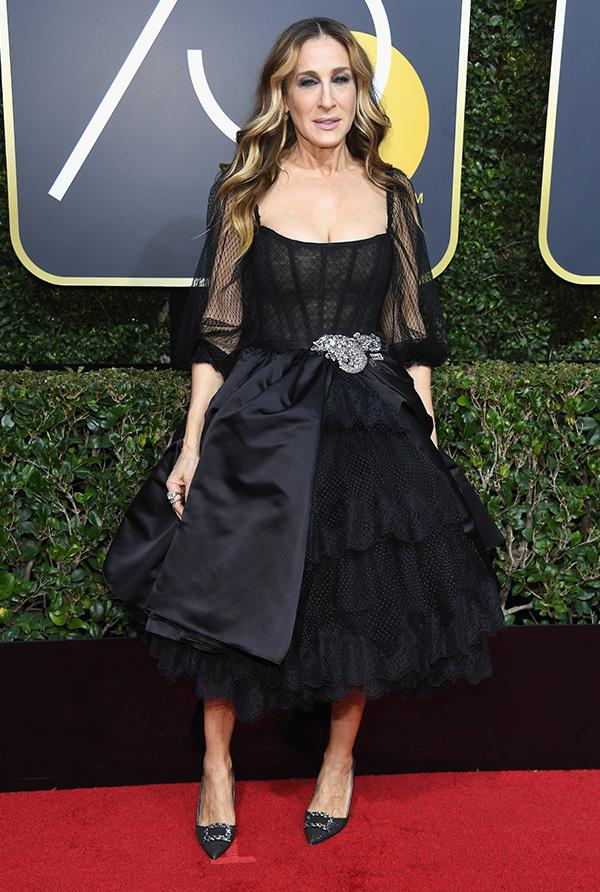Sarah Jessica Parker at the 2018 Golden Globes.