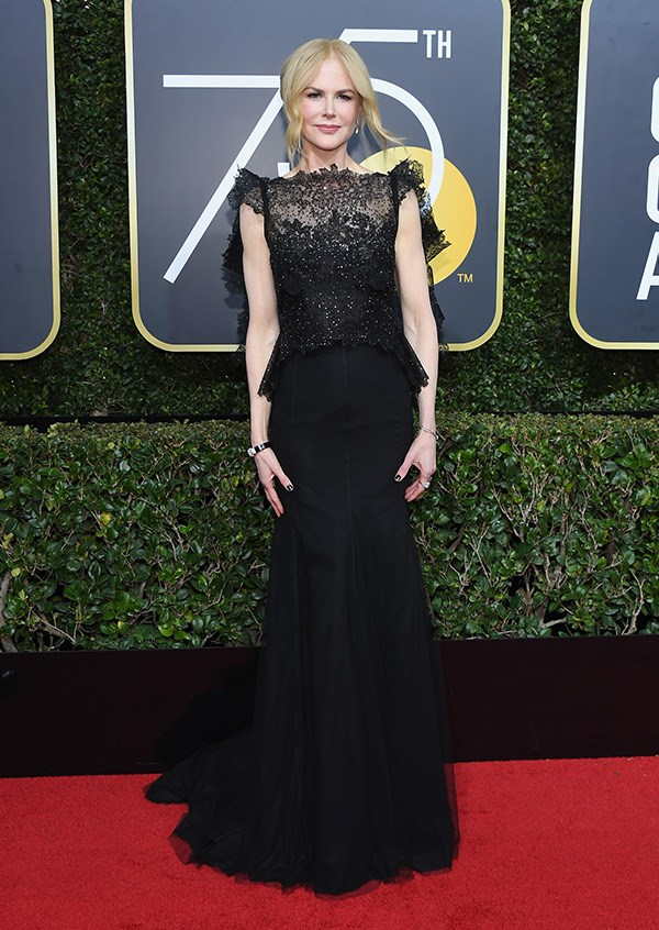 Nicole Kidman in Givenchy Couture at the 2018 Golden Globes.
