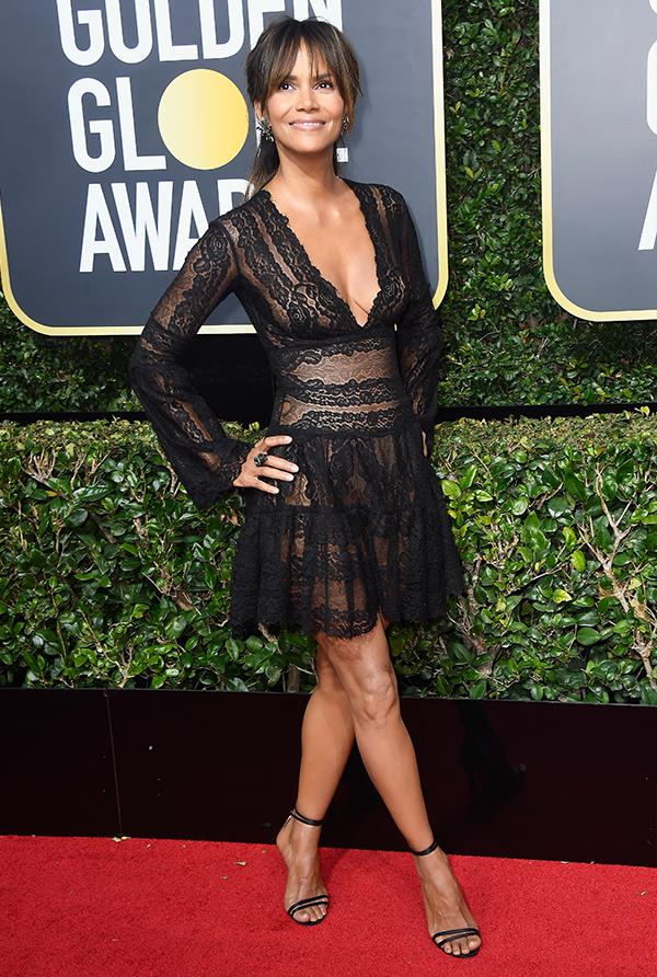 Halle Berry at the 2018 Golden Globes.
