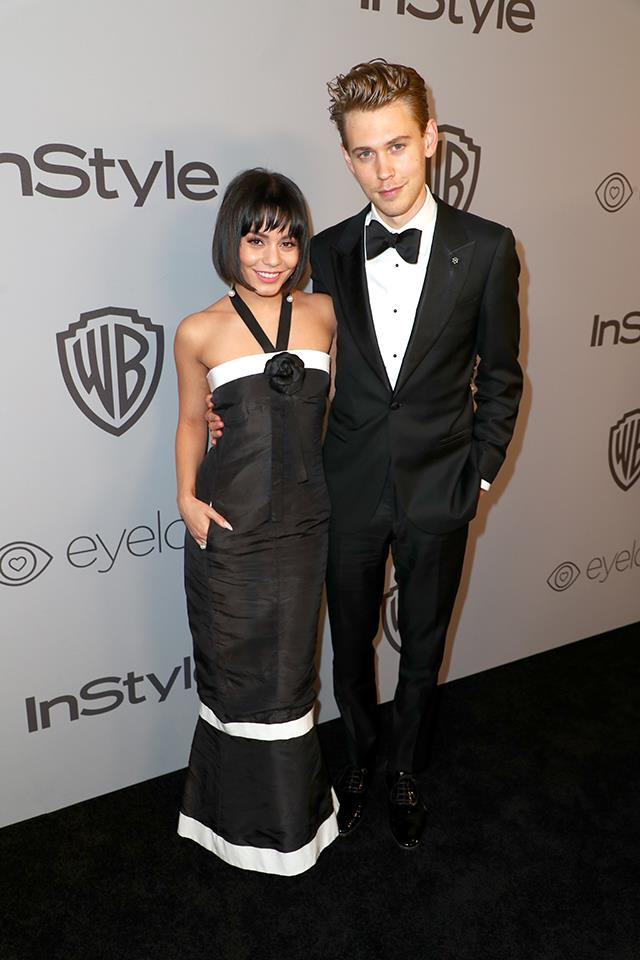 Vanessa Hudgens, in Chanel, and Austin Butler