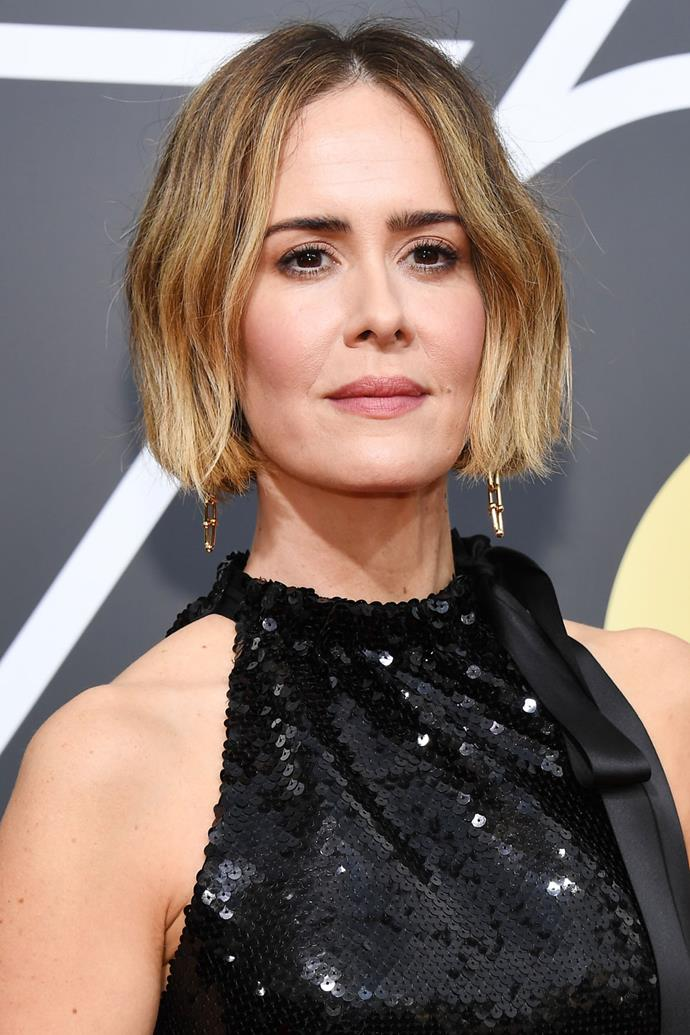 **Sarah Paulson** <br><br> *The Post* actress  definitely knows that you can never go wrong with a brushed brow and jaw skimming 'do.