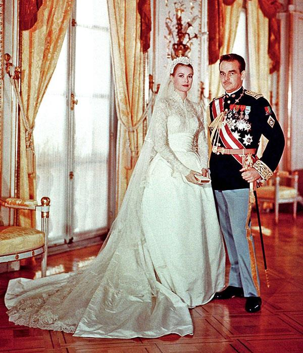 "**Grace Kelly, 1956**  Married: Prince Rainier III of Monaco  Designer: Helen Rose   Estimated Cost: [$150,000](https://www.harpersbazaar.com.au/fashion/most-extravagant-wedding-dresses-13537|target=""_blank"")"