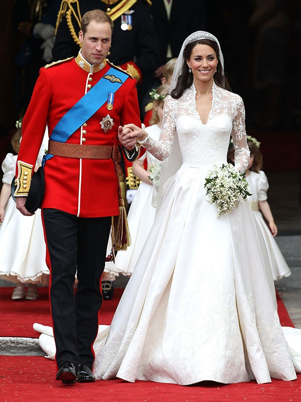 "**Kate Middleton, 2011**  Married: Prince William  Designer: Alexander McQueen  Estimated Cost: [$514,000](https://www.harpersbazaar.com.au/fashion/most-extravagant-wedding-dresses-13537|target=""_blank"")"