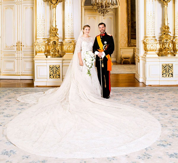 """**Countess Stephanie de Lannoy**  Married: Prince Guillaume, Hereditary Grand Duke of Luxembourg  Designer: Elie Saab  Estimated Cost: [$250,000](http://www.dailymail.co.uk/news/article-2220578/Prince-Guillaume-marries-Countess-Stephanie-Lannoy-Luxembourg.html