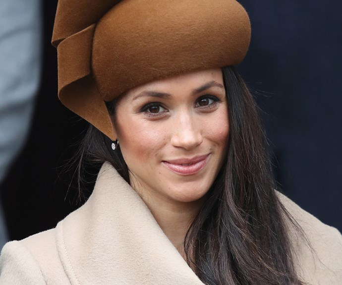 ***Contoured Cheeks*** <br><br> At the official Christmas service last year, Meghan kept her makeup relatively fresh and simple underneath her adorable pumpkin-coloured hat. But what we did spot was an artfully-blended bit of contour to carve out her cheekbones, placed just underneath her rosy blush. <br><br> For the purpose of not looking 'overdone,' royals don't usually wear contour—or, if they do, it's very light—so seeing it make an entrance on Meghan's razor-sharp cheekbones was a pleasant surprise.