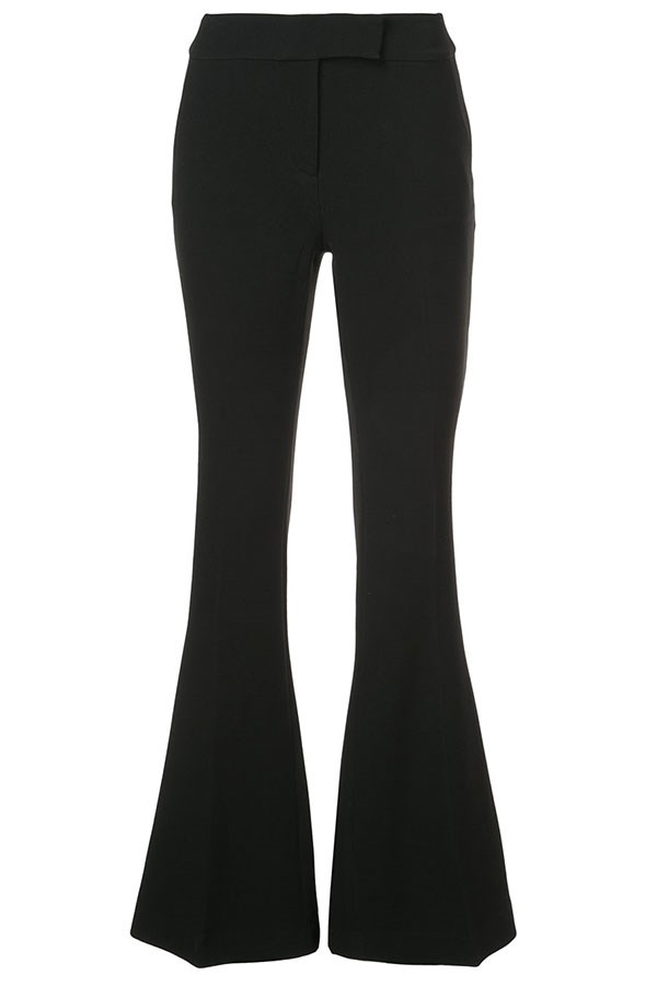 "Flares, $563, Rachel Zoe at [Farfetch](https://www.farfetch.com/au/shopping/women/rachel-zoe-flared-tailored-trousers-item-12570252.aspx?storeid=9423&from=search|target=""_blank""