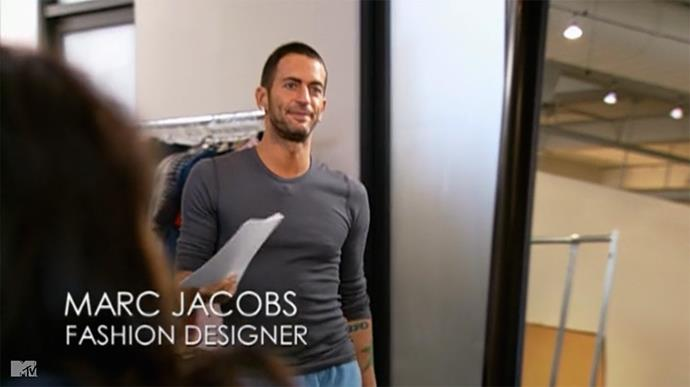 """**MARC JACOBS** <br><br> **Marc Jacobs** had a blink-and-you'll-miss-it cameo in Season 3 of *The Hills*, when Lauren was sent to New York City to assist with Fashion Week.  <br><br> While Lauren was in at the [Marc Jacobs](https://www.harpersbazaar.com.au/beauty/kaia-gerber-first-campaign-video-for-marc-jacobs-beauty-4726