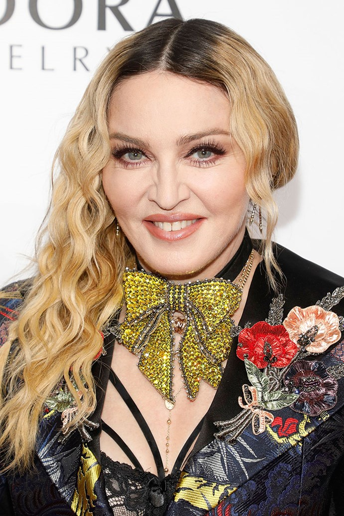 **MADONNA** <br><br> Treatment: Anti-cellulite device <br><br> Cost: Approx. $99,000 <br><br> Ever wondered how Madonna makes 59 look so good? The singer reportedly purchased an at-home anti-cellulite machine for about $99,000. The device uses acoustic wave therapy that assists to eliminate skin dimples.