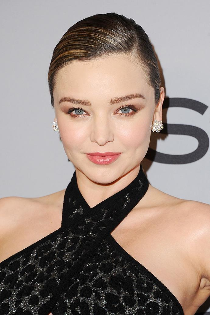 **Miranda Kerr** <br><br> It was only last year that Miranda Kerr married Snapchat billionaire, Evan Speigel, and did you know she created her own bridal beauty look? The model kept her look simple and timeless, with rosy cheeks and a soft eye look.