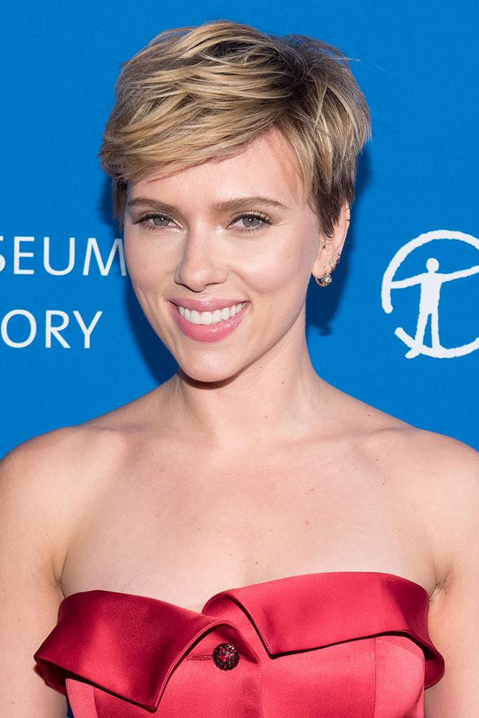 """**Scarlet Johansson** <br><br> Scarlett Johansson told [*ELLE*](http://www.elle.com/beauty/makeup-skin-care/tips/g9355/scarlett-johansson-beauty/