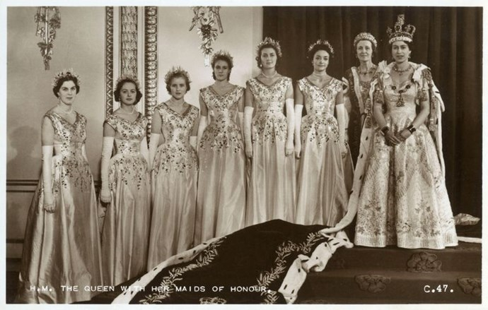The Queen's maids of honour