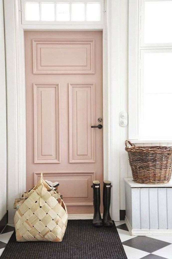 "**STATEMENT DOORS** <br><br> A colourfully painted door is the new way to welcome guests into your home, as well as liven up spaces that boast a neutral colour palette. <br><br> Saves for ""colourful doors"" have increased by 121 per cent. <br><br> Image via: [Pinterest](https://www.pinterest.com.au/pin/80642649556867291/