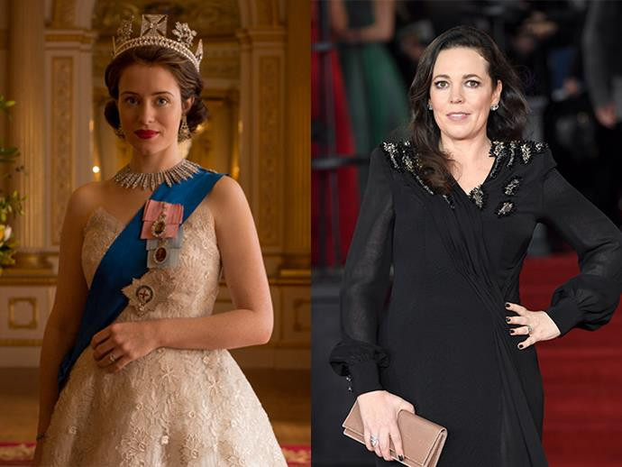 **Queen Elizabeth: Claire Foy will be replaced by Olivia Colman** <br> Claire Foy has elegantly portrayed Queen Elizabeth II throughout season one and two, but her role will be taken on by Olivia Colman from here on out. You may recognise Colman from *Broadchurch* and the recent remake of Poirot's *Murder On The Orient Express*. Though she normally plays a lower-middle class English role, Colman is an incredible actress who will most definitely morph into Queen Elizabeth with ease. Plus, placing her side-by-side next to Foy, the similarities between the two are uncanny.