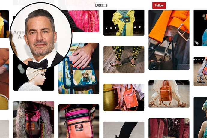 "**Marc Jacobs** <br><br> Account name: [MarcJacobs](https://www.pinterest.com.au/jessicamalba/|target=""_blank"") <br><br> Follower count: 118k <br><br> Marc Jacobs's Pinterest page offers you a behind the scenes look at his runway shows, muses of the moment and vintage pictures that can be found within his bookstore, Bookmarc."