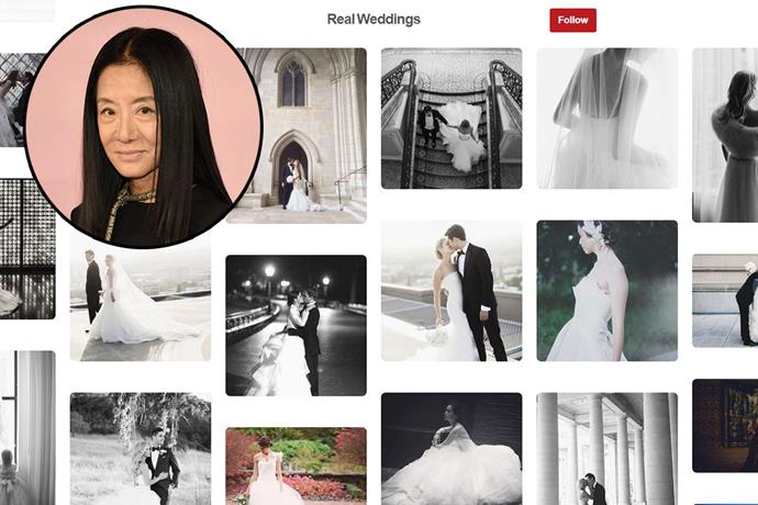 "**Vera Wang** <br><br> Account name: [VeraWangGang](https://www.pinterest.com.au/verawanggang/|target=""_blank"") <br><br> Follower count: 66k <br><br> Naturally, Vera Wang's Pinterest boards are a bride-to-be's dream. The designer creates boards with all types of wedding inspiration, including her bridal collections, real weddings and a sneak peek into her stores around the world."