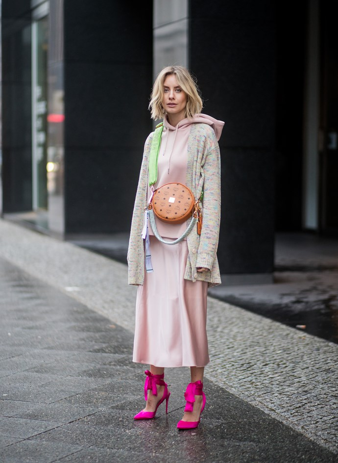 Street style at Berlin fashion week autumn winter '18.