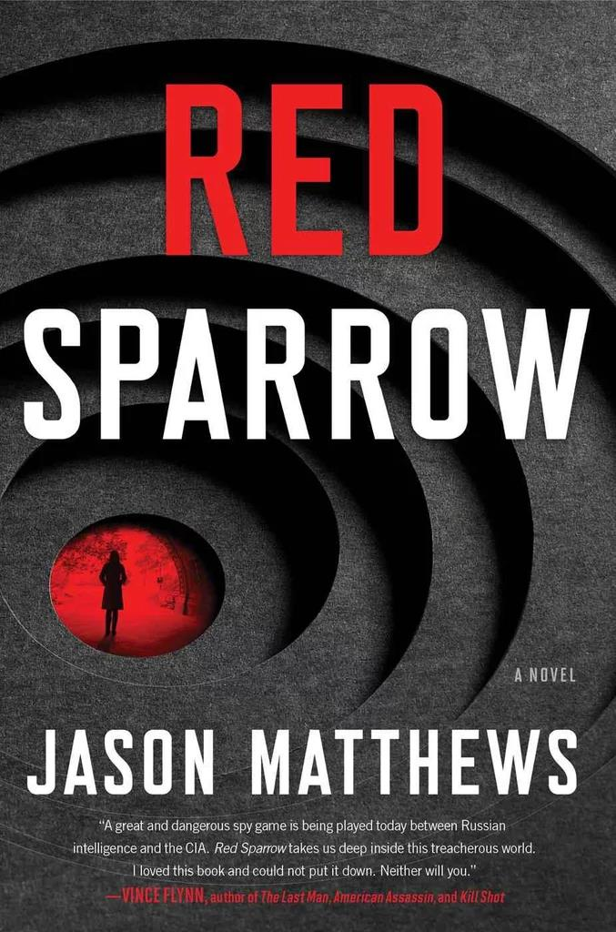 ***Red Sparrow* by Jason Matthews** <br><br> **Synopsis:** A Russian woman named Dominika Egorova, known as 'Red Sparrow' becomes a double agent for the CIA after her ballet career comes to an end. <br><br> **Who's in it:** Jennifer Lawrence plays Dominika, and the supporting cast includes Joel Edgerton, Charlotte Rampling, Jeremy Irons and Mary-Louise Parker. <br><br> **Release date:** March 1