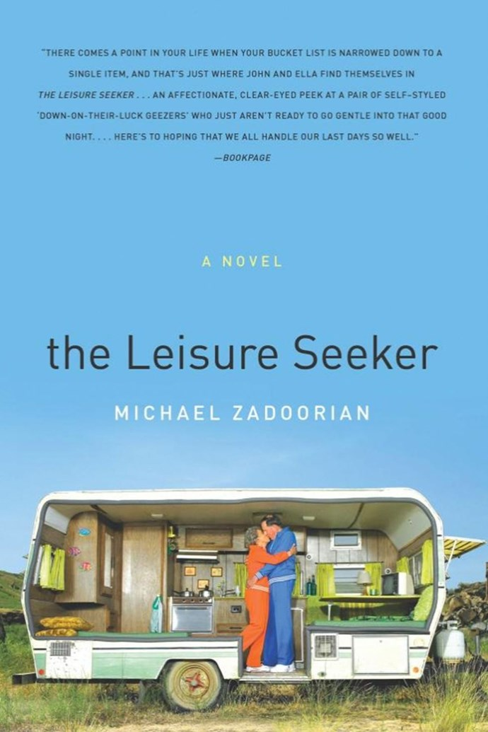***The Leisure Seeker* by Michael Zadoorian** <br><br> **Synopsis:** An elderly couple (one has Alzheimer's, while the other has been diagnosed with cancer) embarks on one last trip together on their beloved RV, which they call the Leisure Seeker. <br><br> **Who's in it:** Helen Mirren and Donald Sutherland. <br><br> **Release date:** TBA