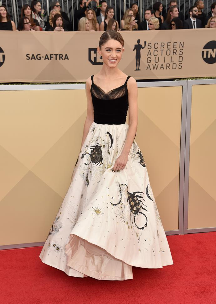Natalia Dyer in Christian Dior Couture