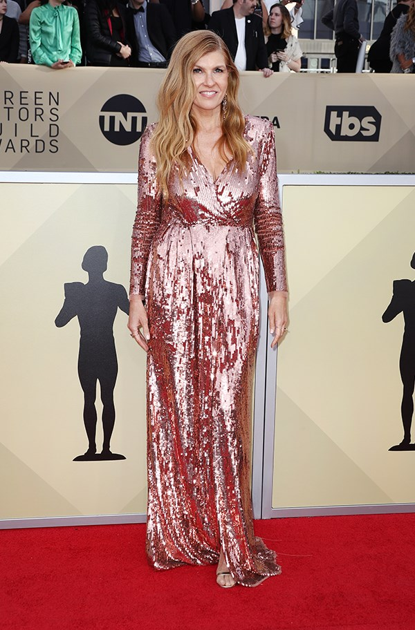 Connie Britton in Elisabetta Franchi