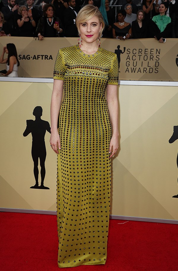 Greta Gerwig In Bottega Veneta