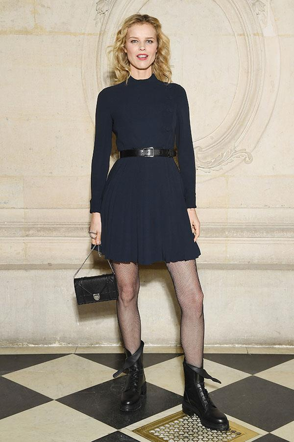 **The front row:**<br><br>  Eva Herzigova