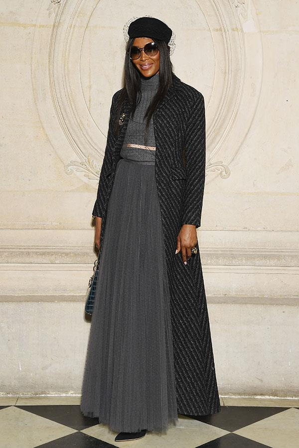 **The front row:**<br><br>  Naomi Campbell