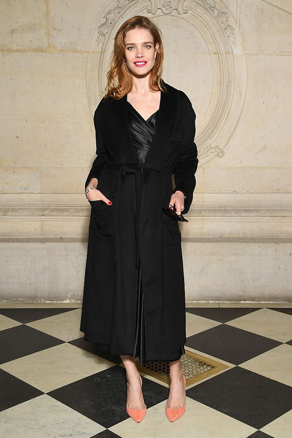 **The front row:**<br><br>  Natalia Vodianova