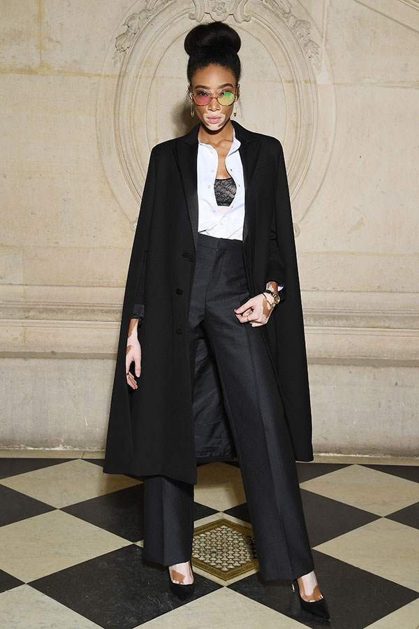 **The front row:**<br><br>  Winnie Harlow