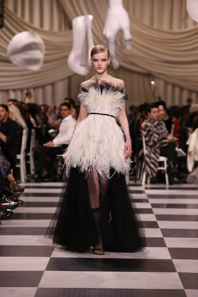 **The show**<br><br>  Christian Dior haute couture spring summer 2018.<br><br>  Image: Courtesy Dior