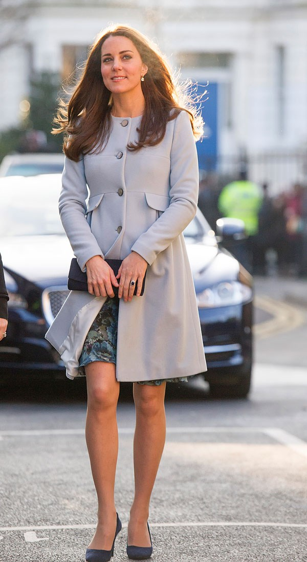 **October 19th, 2018**<br><br>  But the Duchess *first* wore the look when she was pregnant with Princess Charlotte back in 2015 for a coffee morning with the charity Family Friends at Kensington Palace.