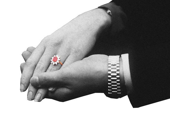 Sarah, Duchess of York's, Burmese ruby ring.