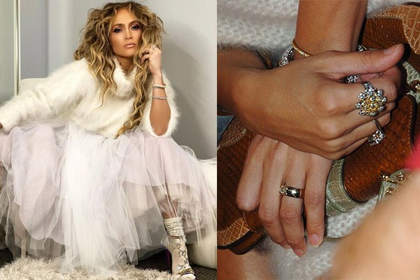 **Jennifer Lopez** <br><br> Jennifer Lopez was lucky enough to receive not one, but two matching push presents from her ex, Marc Anthony for the birth of their twins, Max and Emme. The first was a canary yellow diamond ring, while the second gift was a pair of custom diamond earrings with the children's initials. The diamonds were personally approved by Marc Anthony and are reportedly imported from South Africa, which is known for their high-quality diamond production (the first yellow diamond ever discovered weighed a massive 10.7 carats, was called 'Eureka' and was worn by Audrey Hepburn for *Breakfast at Tiffany's*).  <br><br> While J. Lo's ring originally cost around $300,000, the earrings were around $2.5 million. Even better news for Lopez—since she was gifted these amazing push presents, the market for these precious diamonds has increased significantly driving the value of these exquisite pieces up substantially since the time of purchase.