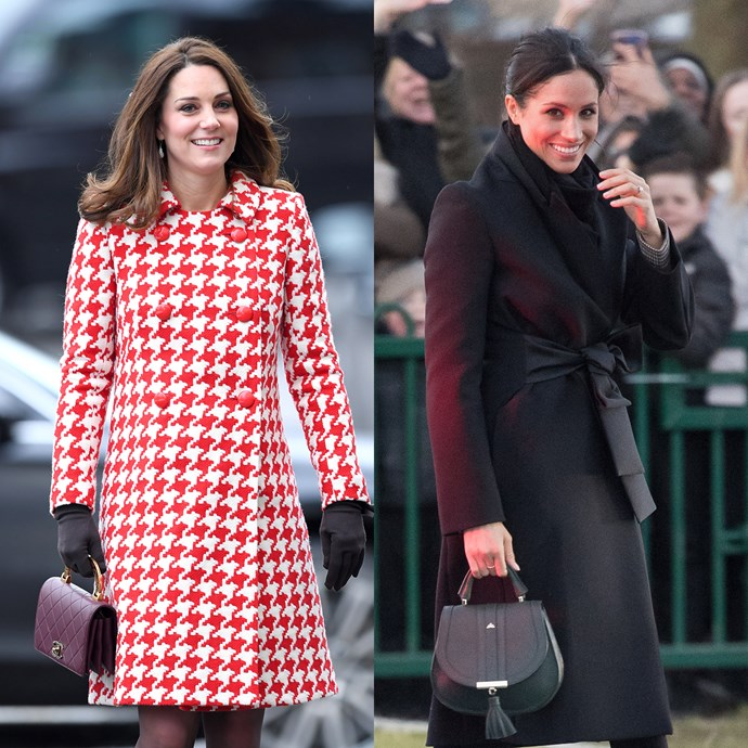 "For most of her royal appearances, Markle has '[broken royal protocol](https://www.harpersbazaar.com.au/celebrity/meghan-markle-royal-protocol-clutch-bag-15176|target=""_blank"")' by carrying a top handle bag instead of a [traditional clutch](https://www.harpersbazaar.com.au/celebrity/kate-middleton-clutch-theory-5414