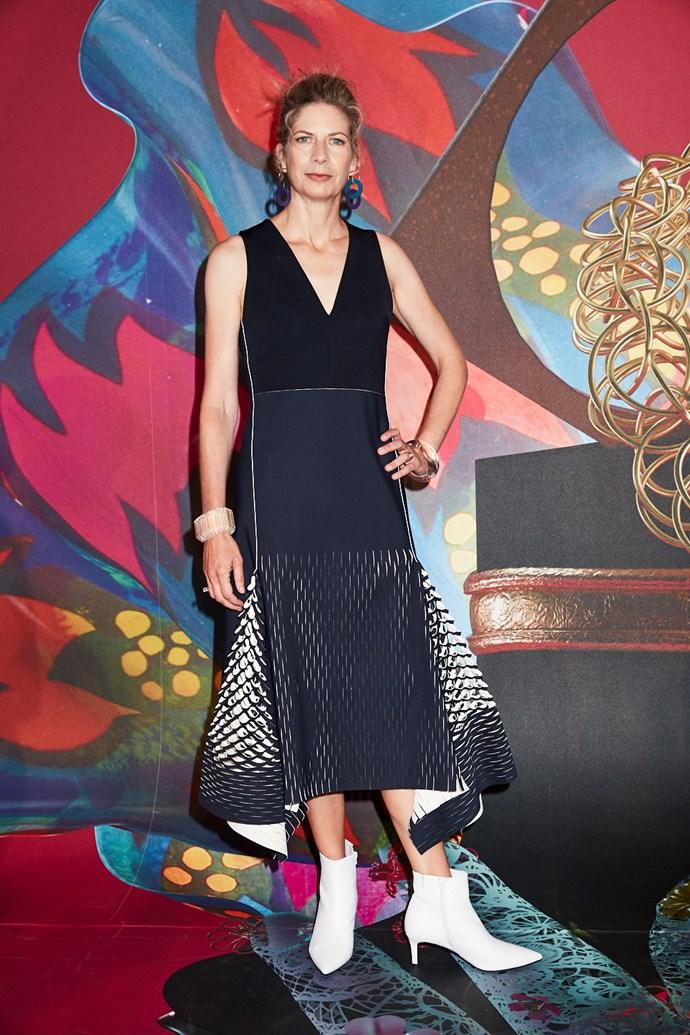 MAAS Director and CEO Dolla Merrillees wearing Dion Lee
