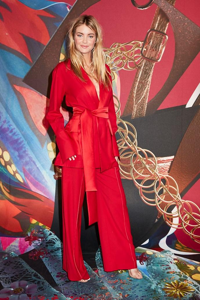 Model Elyse Taylor wearing Michael Lo Sordo