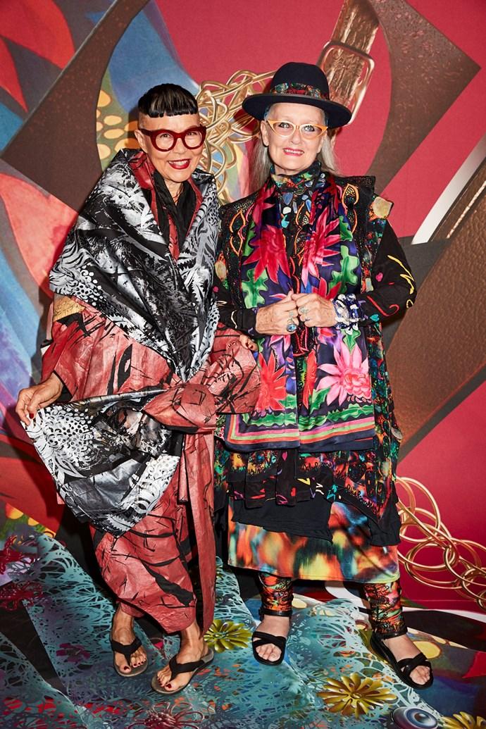 Designers Jenny Kee and Linda Jackson
