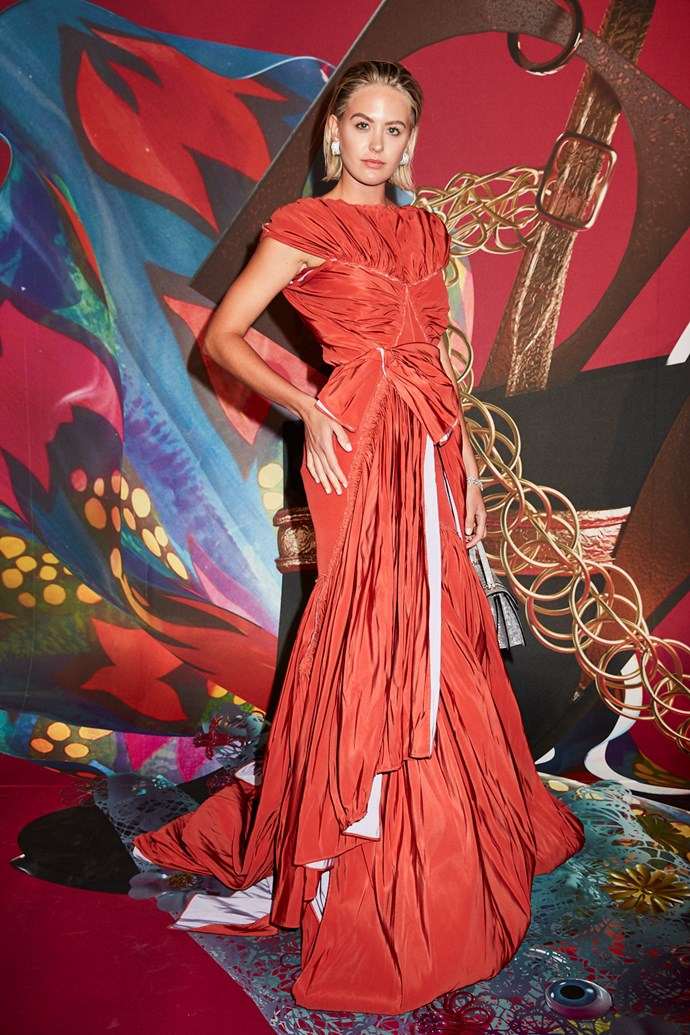 Model Jesinta Franklin wearing Maticevski