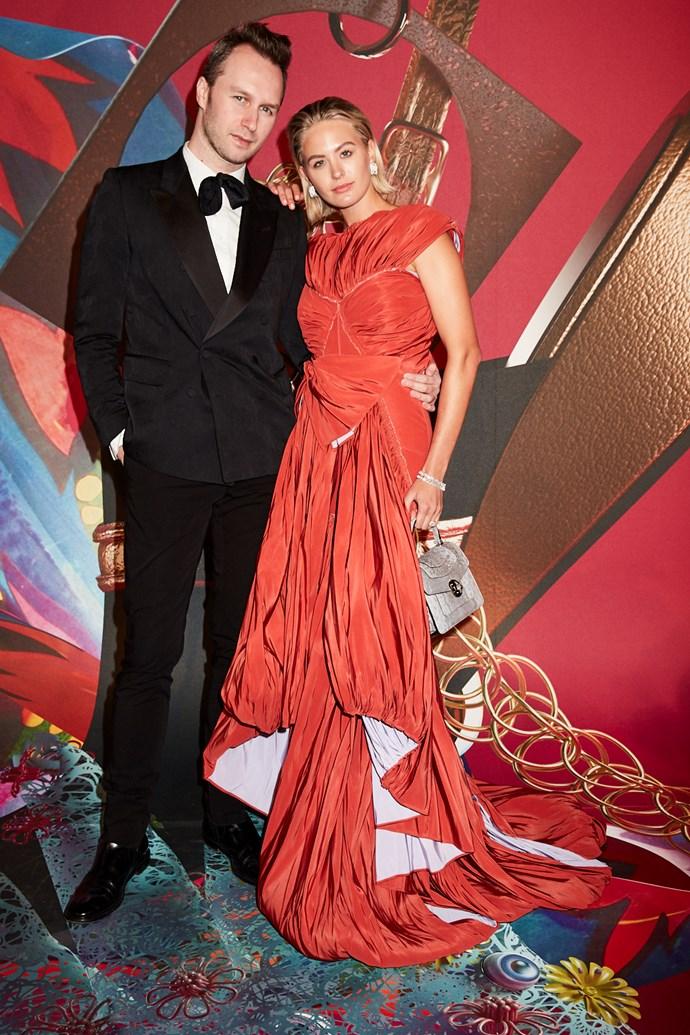 Designer Toni Maticevski and Jesinta Franklin