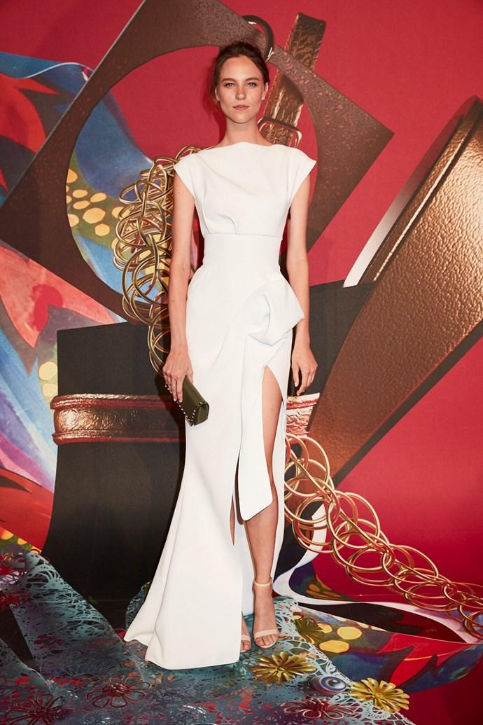 Model Nicole Pollard wearing Toni Maticevski
