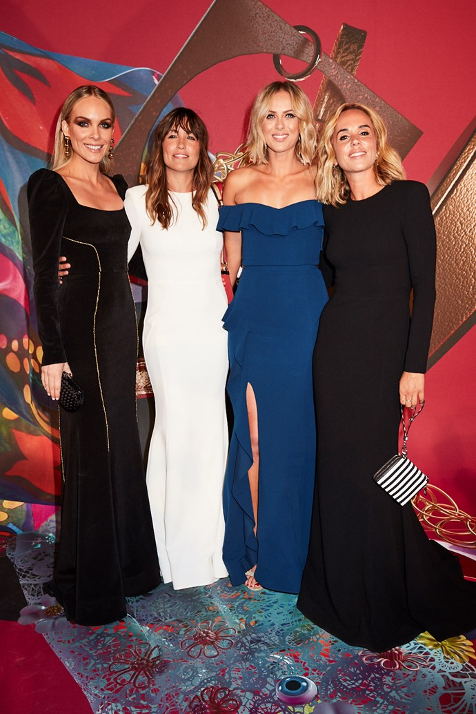 Rebecca Vallance, PE Nation co-founders Claire Tregoning and Pip Edwards (wearing Rebecca Vallance) and Sylvia Jeffreys