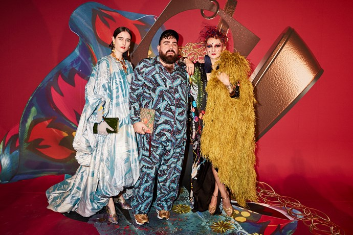 Romance Was Born designers Anna Plunkett and Luke Sales with stylist Catherine Baba