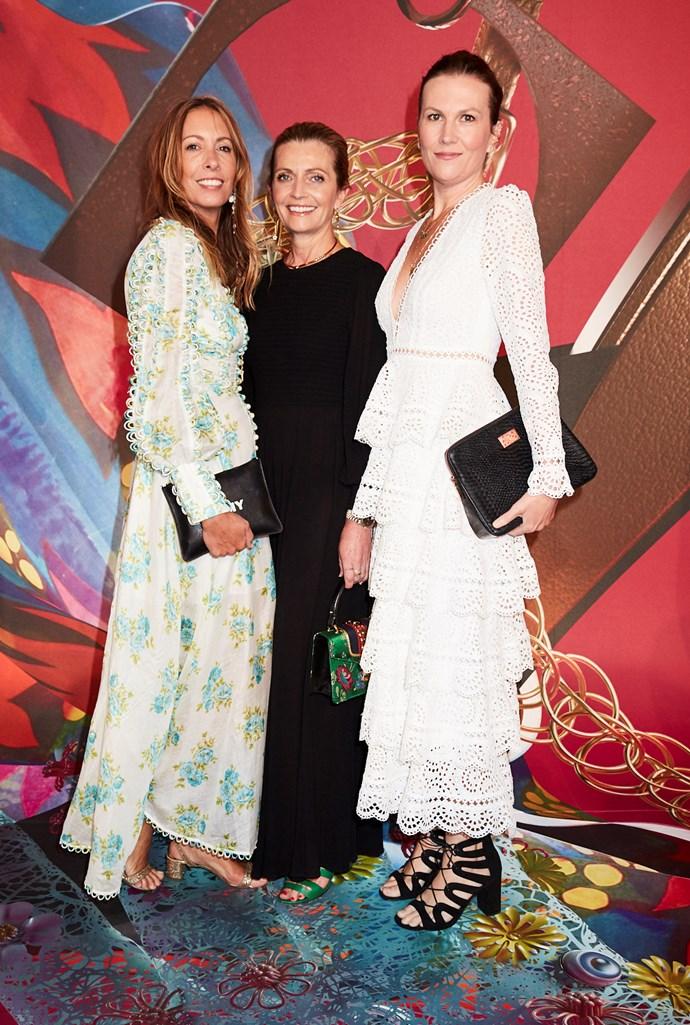 Stylist Romy Frydman (in Zimmermann), Simone Zimmermann and BAZAAR Associate Editor Eliza O'Hare
