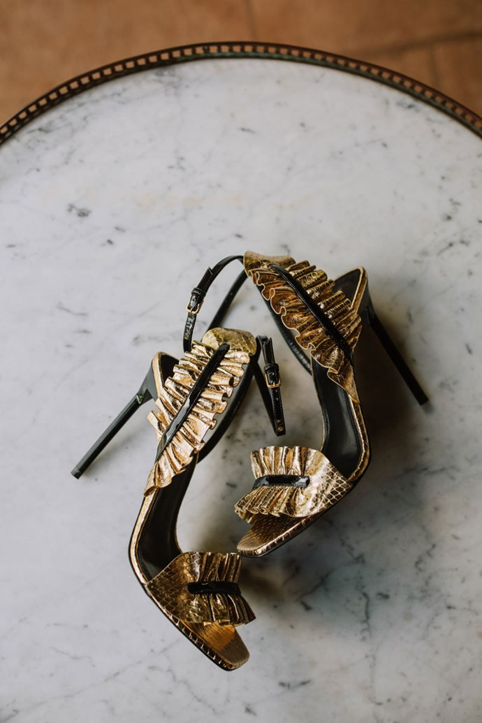 **On the accessories: **My favourite accessory was definitely my Saint Laurent heels. I have an obsession with shoes–I think they were the 80th pair I have bought, and I absolutely love them! They weren't that overdone 'bridal style' but more like party shoes, I can't get enough of them.